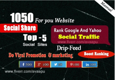 powerful package manually create 1050 SEO top social signals