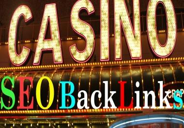 400 Manual Link-Building + 400K Tire-2 Links For CASINO/GAMBLING/POKER Evaluate Google 1st Rank