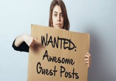 Place 30 Quality Permanent Guest Post Backlinks