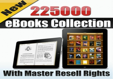 225000 PDF eBooks Package Collection With Master Resell Rights MRR PLR(ePub,PDF)