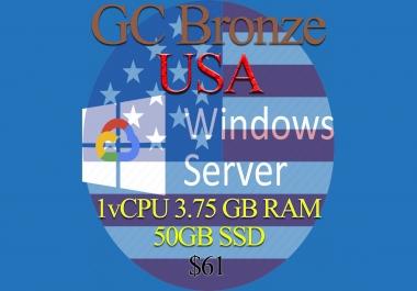 United States RDP Bronze - 1vCPU - 3.75GB RAM - Guarantee!