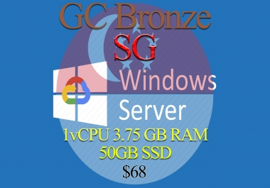 Singapore RDP Bronze - 1vCPU - 3.75GB RAM - Guarantee!