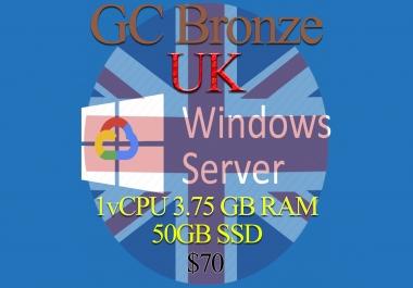 United Kingdom RDP Bronze - 1vCPU - 3.75GB RAM - Guarantee!