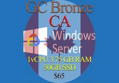 Canada RDP Bronze - 1vCPU - 3.75GB RAM - Guarantee!