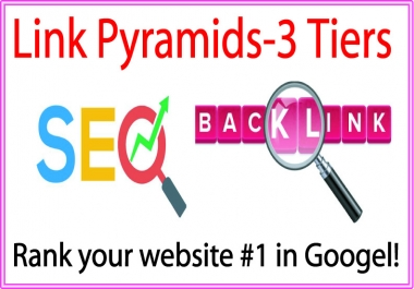 Top Link Pyramids 3 Tiers of backlinks-Web 2.0 blogs-Mix profiles backlinks-Social networks profiles