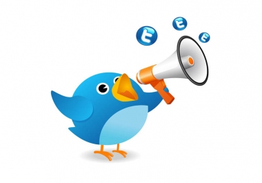 tweet your message to 2600+ real followers