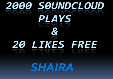 Best Offer 2000 S0und cl0ud plays & 20 Likes in y... for $1