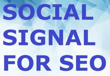 200 Seo Social Signal 8 Platform Google Plus Linkedin... for $1