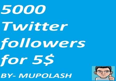 Best Cheep Rate Twltter 5000-5500 followers