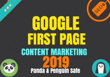Guaranteed Google 1st Page - With Content Marketing - May Update