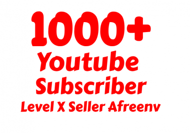 Add Super Fast 1000+ High Quality USA Youtube Subs criber