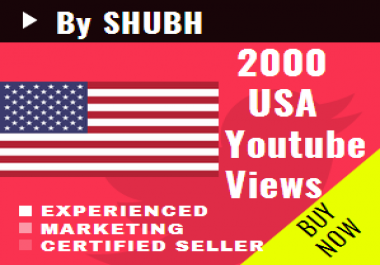 Add 2000 USA Youtube Views for $1
