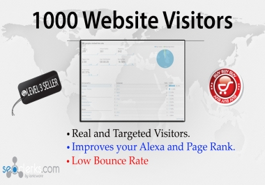 send 1000+ Unique visitors to boost your website TRAFFIC for $1