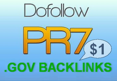 create 3 PR7 DoFollow High PR Gov Backlinks To Boost You... for $1