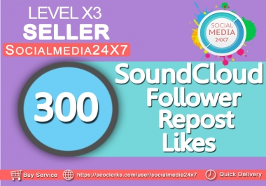 get 300 soundcloud likes/follower within 24-48hrs  for $1