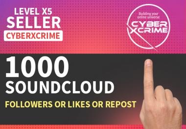 Add 1000 Soundcloud Followers Or 1000 Likes