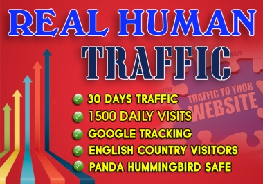 I will send 1500 daily website traffic for one month