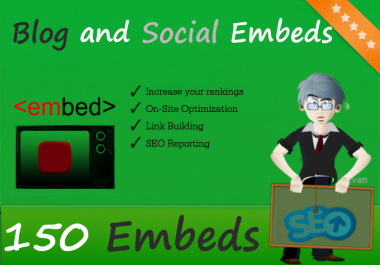 Create 150 YouTube Video Embeds and promote to 1 Mill... for $1