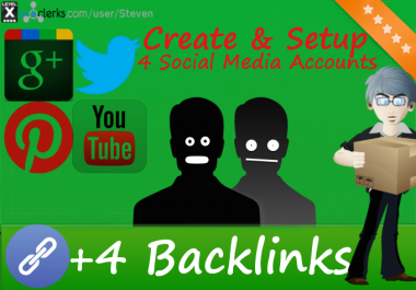 Create 4 PR9 Backlinks from The Top Social Netwokrs for $1