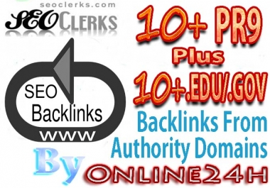 10+ PR9 + 10+ .EDU/.GOV Backlinks From Authority Domains only