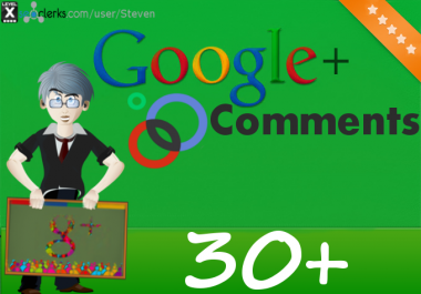30 Google Plus Comments for your post, status or phot... for $1