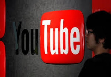 Give you 100 human youtube video like in your any you... for $1