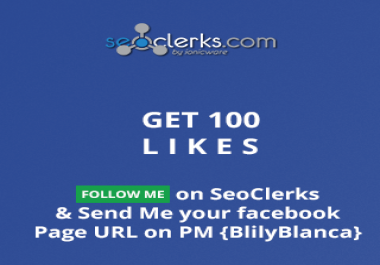 Follow Me On SEOclerks and Get 100 FB Page Likes OR 100 TWITTER FOLLOWERS
