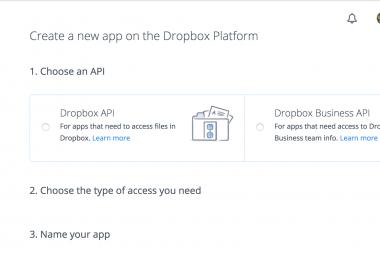 build dropbox API PHP Simple APP