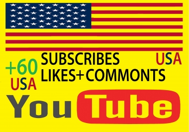 Real +60 YouTube Subscribers and +60 likes video for 3