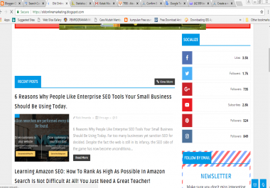 SEO template for my blog
