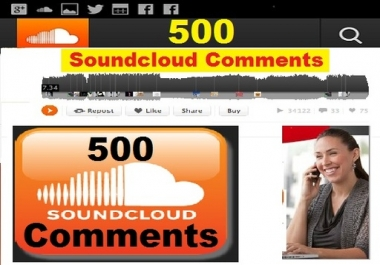 Need seller who can give me 50 comments soundcloud from real indonesian only for 5
