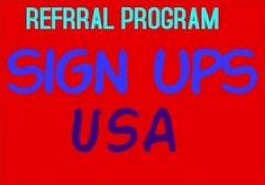 50 USA sign ups