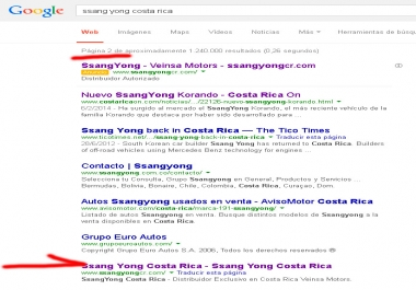 Need seo to get 2 sites to be in 1 page on google