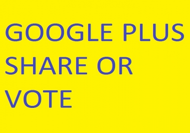 Need 1000 Google Plus Share or Vote urgently