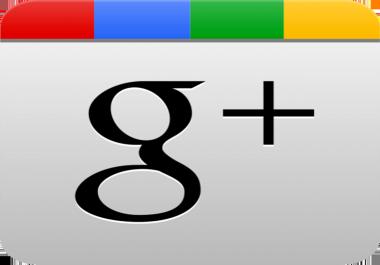 Wanted Google+ Plus Followers upto 1,000,000