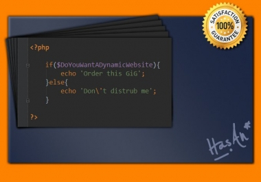 I will develop a dynamic website using PHP