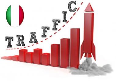 Italian Traffic tracked by Google Analytics
