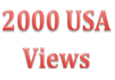 want 2000 USA Youtube views