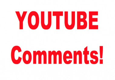 10 Youtube Custom Comments,  from all over the world