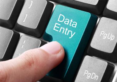 Data Entry job for 5-6 hours