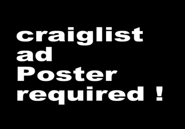 Looking for Craiglist ad poster daily basis
