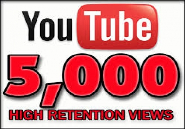5000 Super fast youtube views