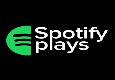 Plays on spotify on album 13 tracks