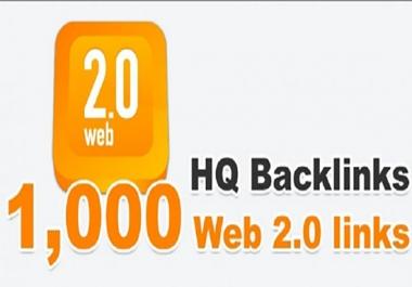 I need 1000 web 2 HQ backlinks
