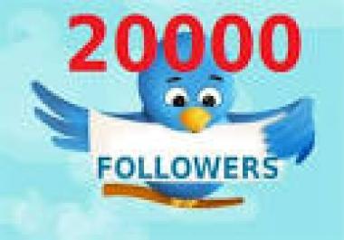 20,000 Twitter Followers Fast