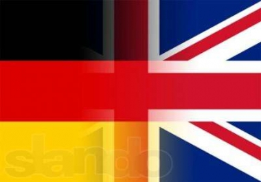 High-quality and professional translation of text English - German.