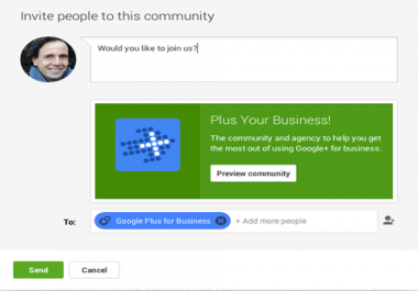 I need Google plus community members