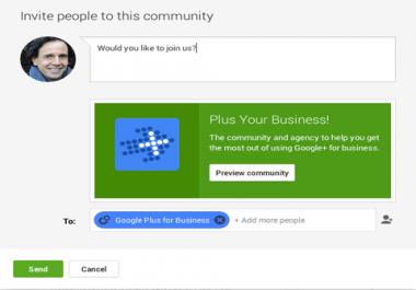 I need Google plus community members