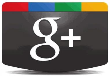 200 Google plus circles/followers