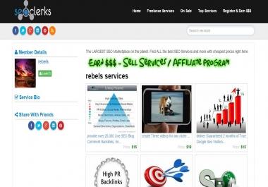 Affiliate web site like seoclerk